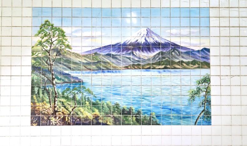 """""""銭湯の壁画と言えば、やっぱり富士山ですね。"""""""