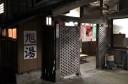 """""""入口の木組みは「内野でアート」の作品。新潟大学の学生さんによるもの。"""""""